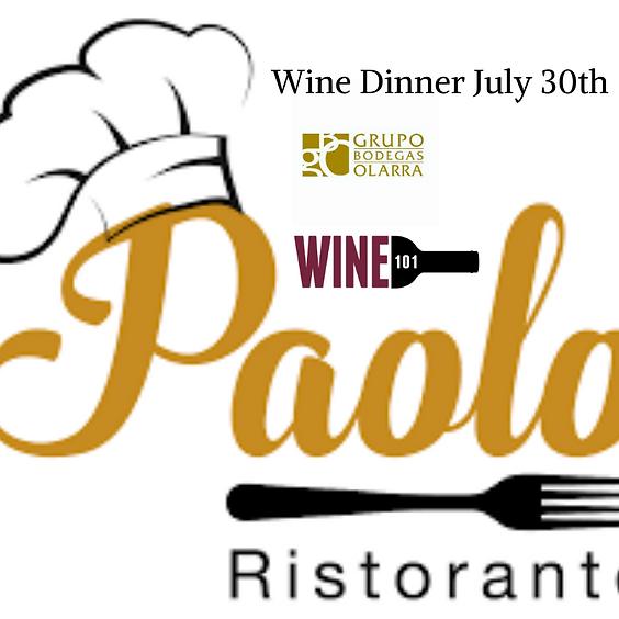 Paolo Wine Dinner w/ Bodegas Olarra