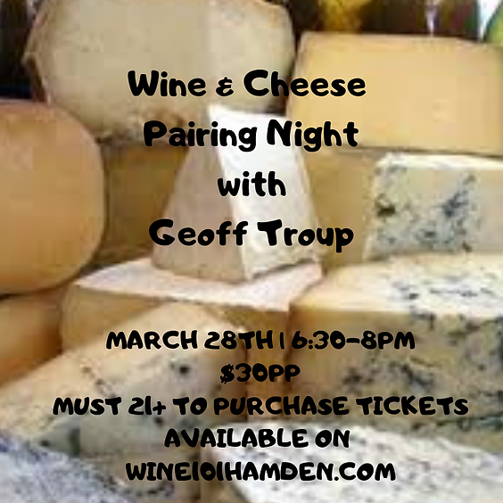 Wine & Cheese with Geoff