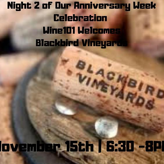 A Night with Blackbird Vineyards