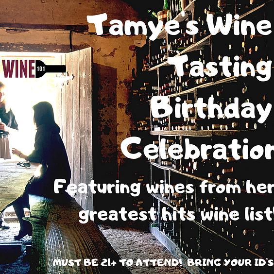 Tamye's Wine Tasting Birthday Celebration