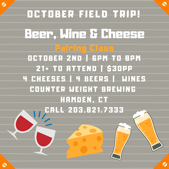 Counter Weight Brewing: Wine, Beer & Cheese Pairings