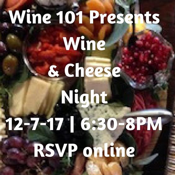 Wine101: WIne & Cheese Class