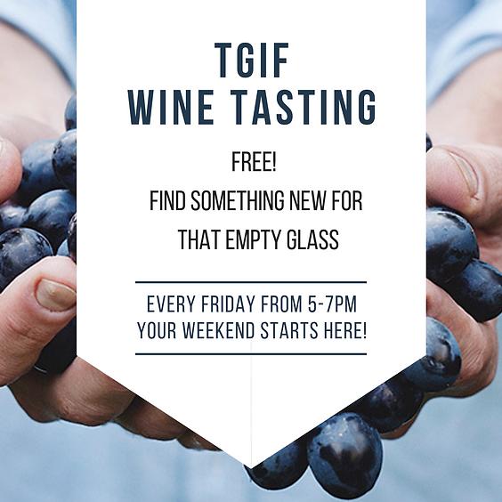 TGIFree Wine Tasting Fridays