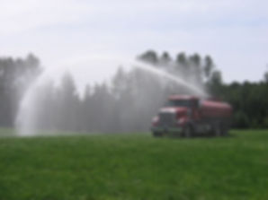 Water truck spraying services