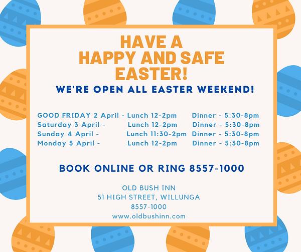 Orange Blue Eggs Easter Facebook Post.pn