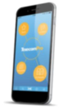 TexecomPro_HomeHub_Phone Angled_Shadow_F