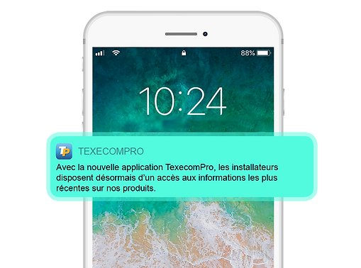 FRENCH Smartphone White_Mode PUSH notifi