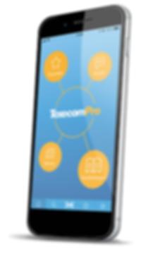 TexecomPro_HomeHub_Phone Angled_Shadow_N