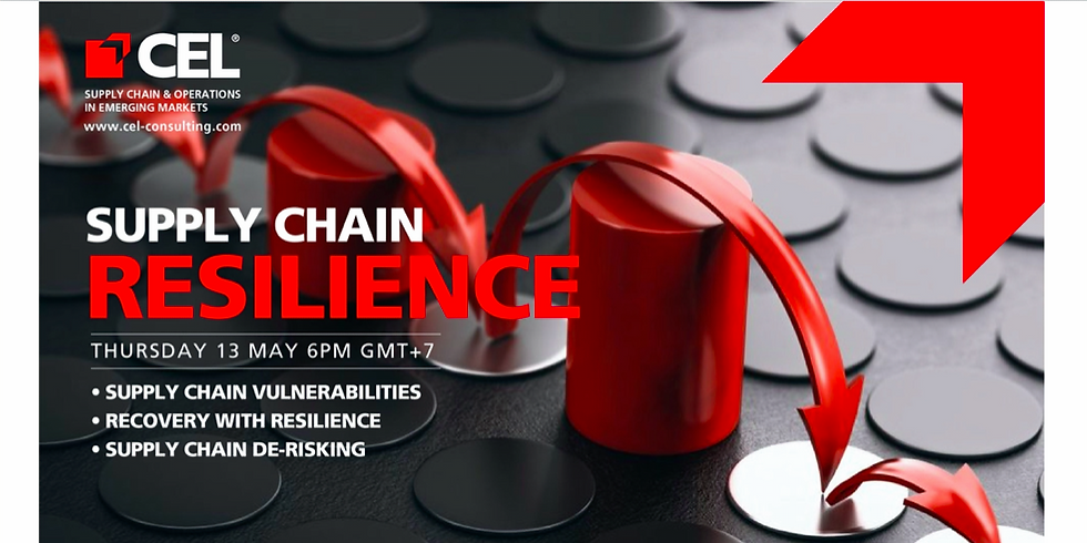 CEL Zoom Talk: SUPPLY CHAIN RESILIENCE