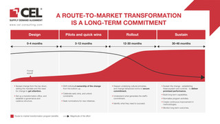 A route to market transformation is a long term commitment