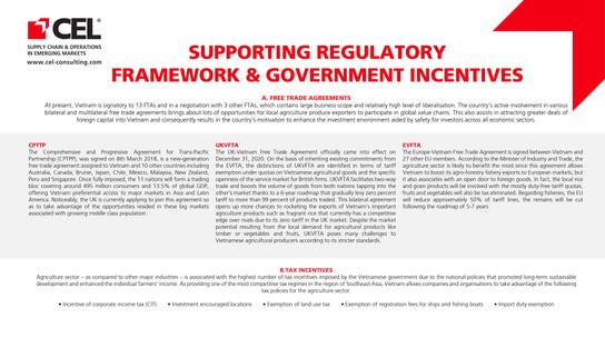 Supporting Regulatory Framework & Government Incentives