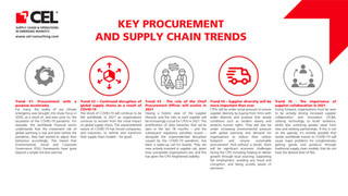 Key procurement and supply chain trend
