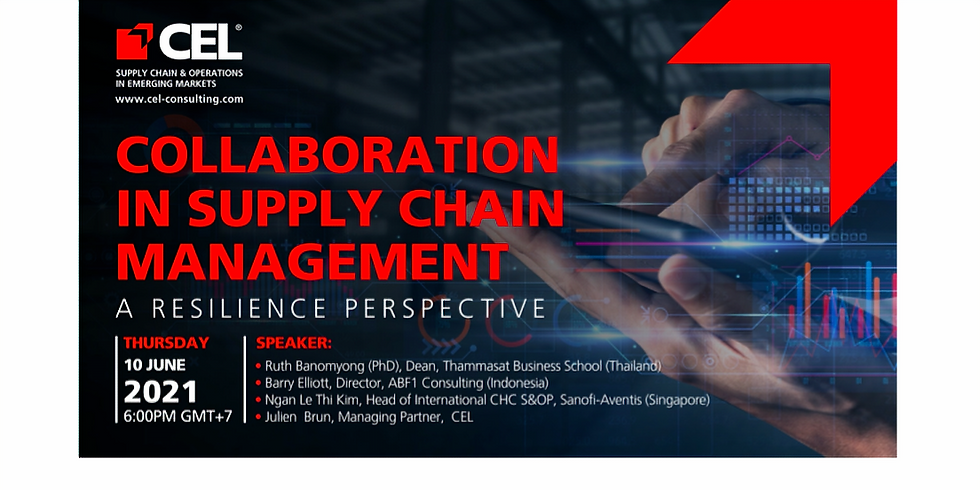 CEL Zoom Talk: COLLABORATION IN SUPPLY CHAIN MANAGEMENT