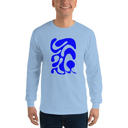 Men's Long Sleeve Shirt One line One line Blue
