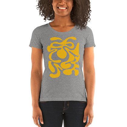 Ladies' short sleeve t-shirt Hidden yellow