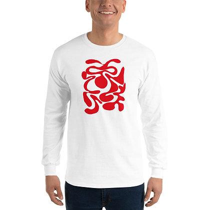 Men's Long Sleeve Shirt Hidden red