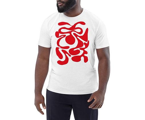 Men's organic cotton t-shirt Hidden red