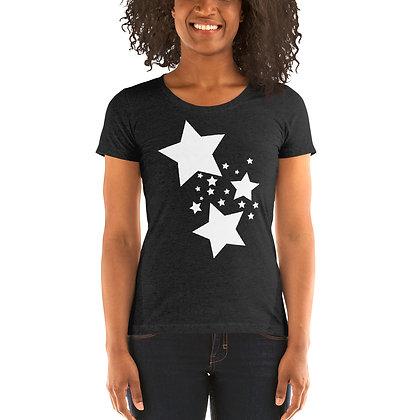 Ladies' short sleeve t-shirt White stars