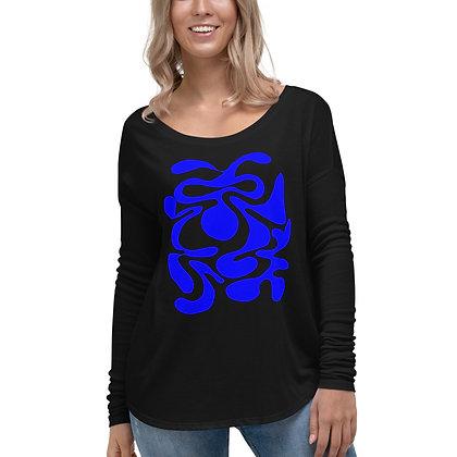 Ladies' Long Sleeve Tee Hidden blue