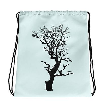 Ice blue  Drawstring bag Tree 1