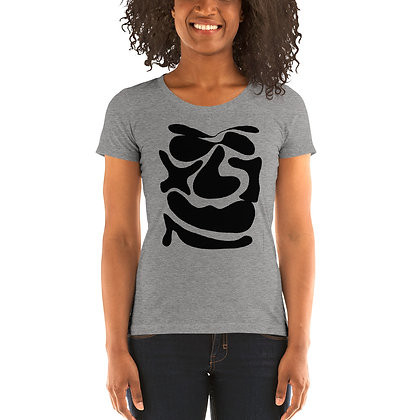 Ladies' short sleeve t-shirt Abstract face