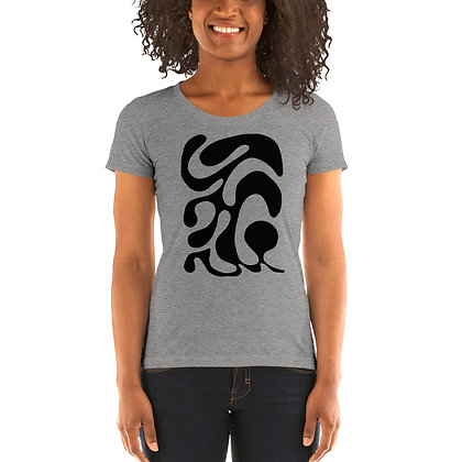 Ladies' short sleeve t-shirt One line black