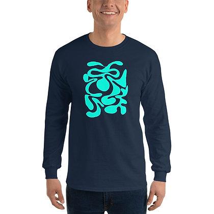 Men's Long Sleeve Shirt Hidden turquoise