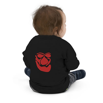 Baby Organic Bomber Jacket Face red