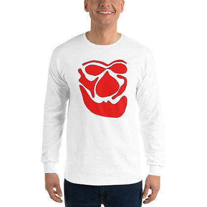 Men's Long Sleeve Shirt Face red