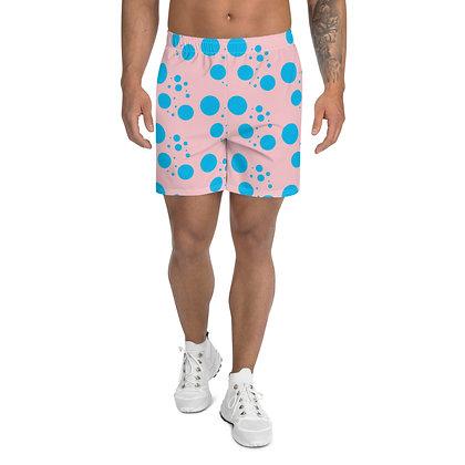 Men's Athletic Long Shorts Blue dots