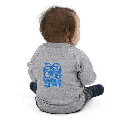 Baby Organic Bomber Jacket Hidden aqua