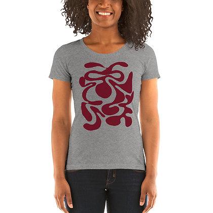 Ladies' short sleeve t-shirt Hidden burgundy