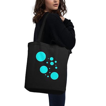 Eco Tote Bag Turqoise dots