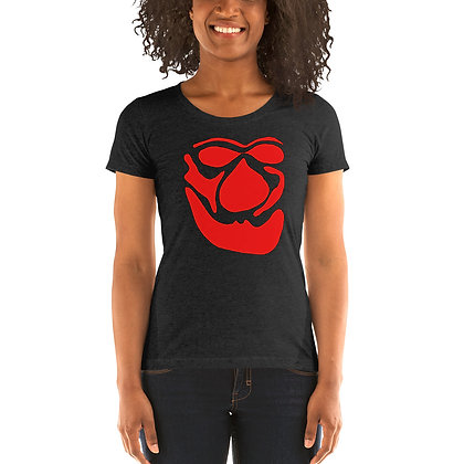 Ladies' short sleeve t-shirt Face red