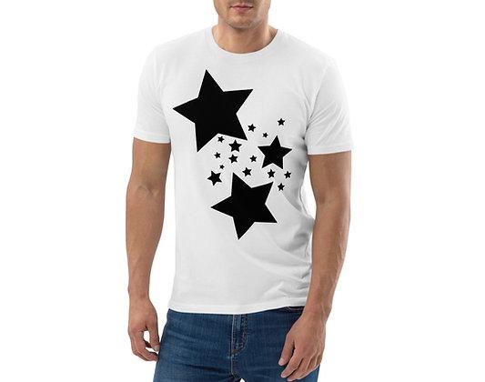Men's organic cotton t-shirt Black stars