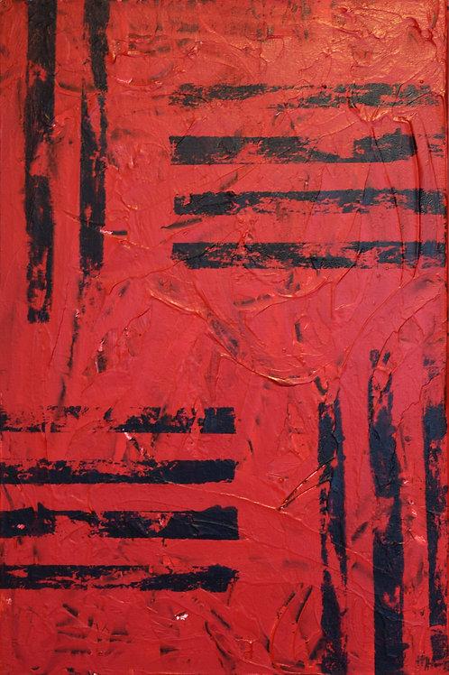 Akryl, acryl, canvas, målning, canvasduk