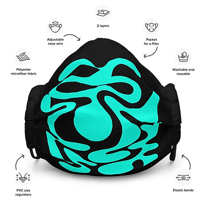 Face mask Hidden / Turquoise