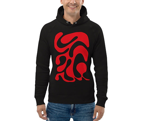 Men's Eco Hoodie One line red