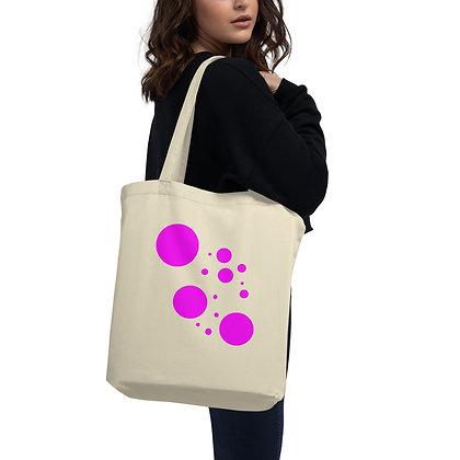 Eco Tote Bag Pink dots