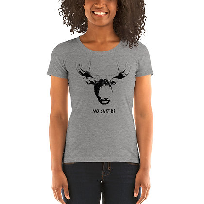 Ladies' short sleeve t-shirt Moose No Shit