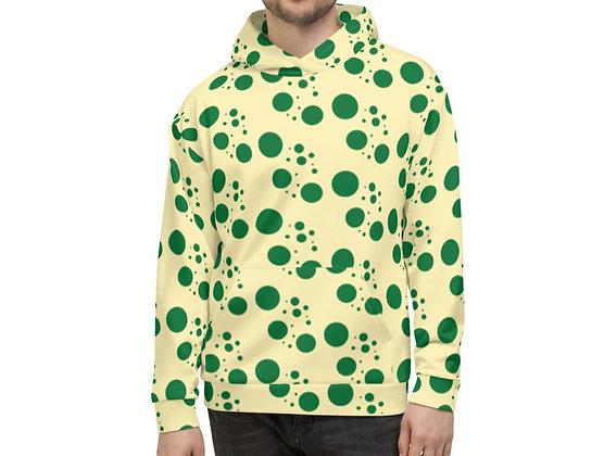 Men's Hoodie Green dots