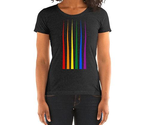 Ladies' short sleeve t-shirt Rainbow