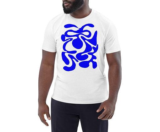 Men's organic cotton t-shirt Hidden blue