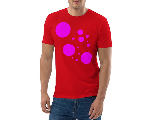 Men's organic cotton t-shirt Pink dots