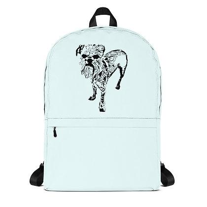 Ice blue Backpack Griffon bruxellois 1