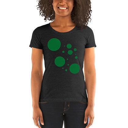 Ladies' short sleeve t-shirt Green dots