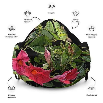Face mask Pink Flowers