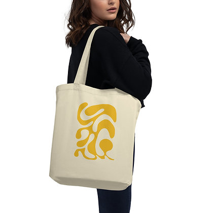 Eco Tote Bag One line yellow