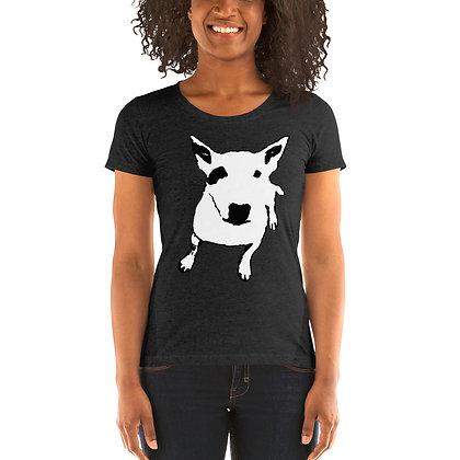 Ladies' short sleeve t-shirt White Bull Terrier