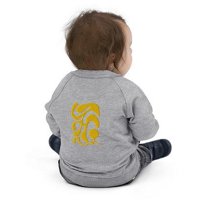 Baby Organic Bomber Jacket One line gold